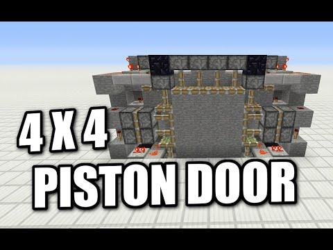 Minecraft PS4 - 4X4 PISTON DOOR - Tutorial ( PE / PS3 / XBOX / WII U )