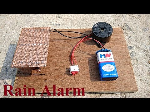 How to make Rain Detector Alarm at home || VERY SIMPLE ||