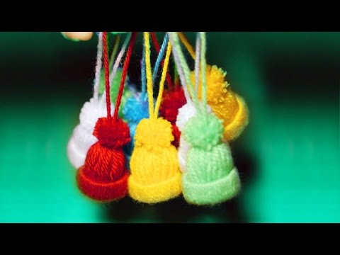 KNITTED TOY HATS - DIY christmas tree decorations