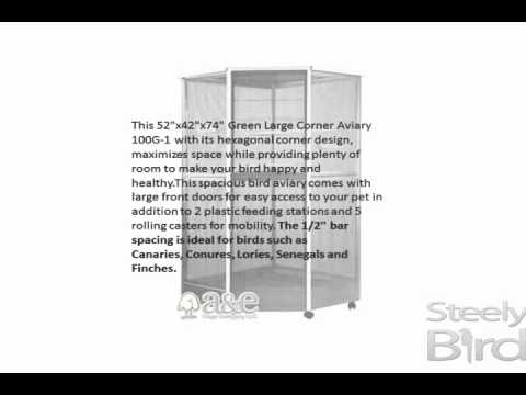 Large Corner Aviary by A&E Bird Cages