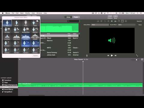 iMovie - 4 Transitions and Audio