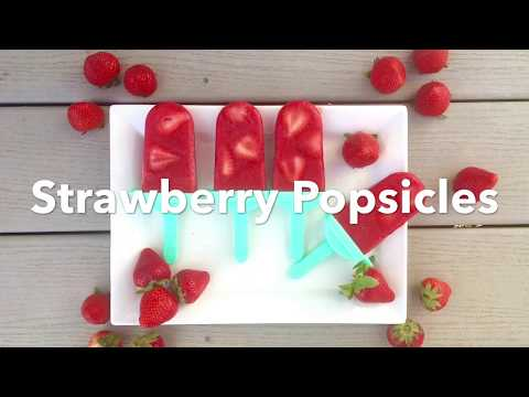 DIY Strawberry Popsicles