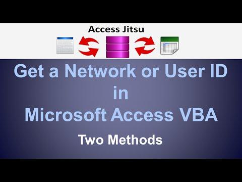 Microsoft Access - Get User Name
