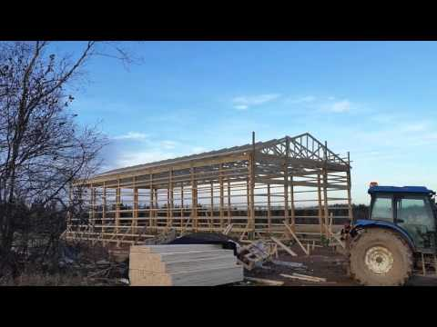HOW TO BUILD A POLE BARN (57'X80')
