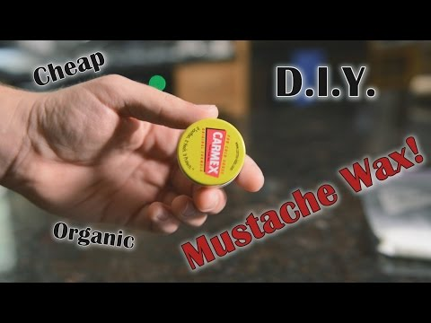 D.I.Y. Mustache Wax -The Cheap Way!