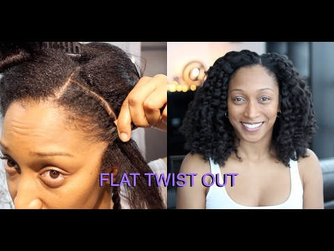 Flat Twist Out on Blow Dried Hair | Natural Hair
