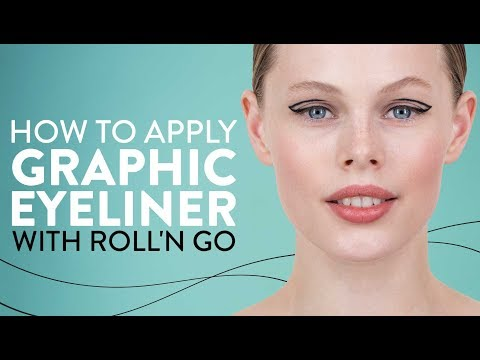 How To Apply Graphic Eyeliner With Roll'N Go