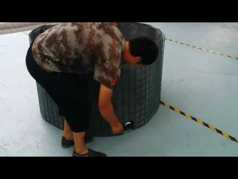 Steel mesh water tank fish tank