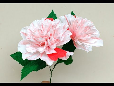 How to make Paper Flower Camellia Japonica Extravaganza (flower # 168)