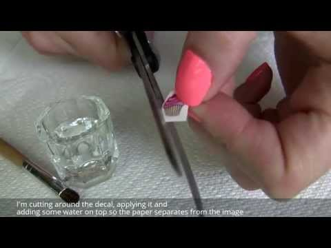 How To Apply Water Nail Decals (Stickers) Over Gelish Gel Polish