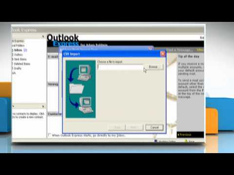 How to import the address book file in Outlook Express on Windows® XP
