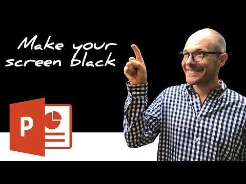 How to turn your Screen Black During A PowerPoint Presentation