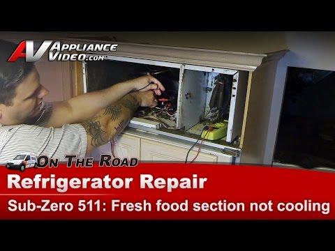 Sub-Zero Refrigerator not cooling - Diagnostic compressor relay overload & Start capacitor repair