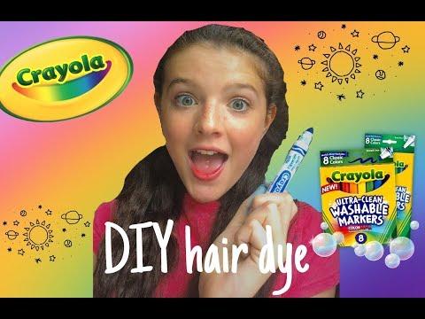 DIY Crayola marker hair dye **washable**
