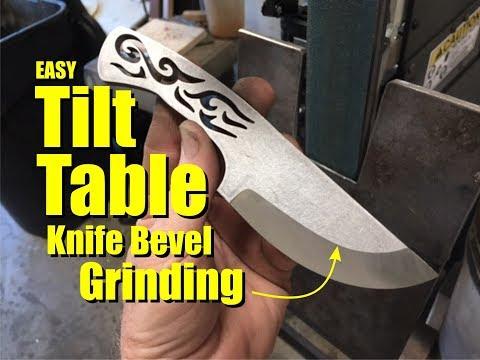Tilt Table Knife Bevel Grinding Jig