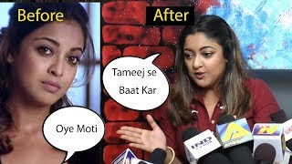 Tanushree dutta Shocking body Transformation Fit To Fat and angery on Reporters