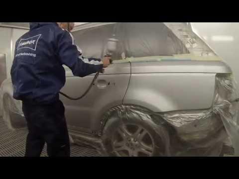 Spray Painting Tutorial Crystal Silver Range Rover Sport