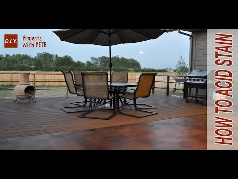 How to Acid Stain Concrete | DIY Acid Stained Concrete Patio