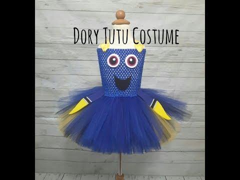 Dory Halloween Tutu Costume | DIY no sew tutu | Dory Tutu