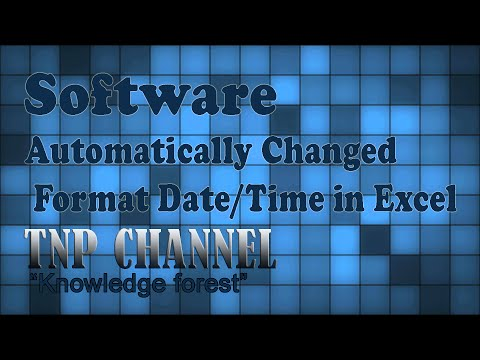 How to fix Error Automatically Changed Format Date/Time in Excel