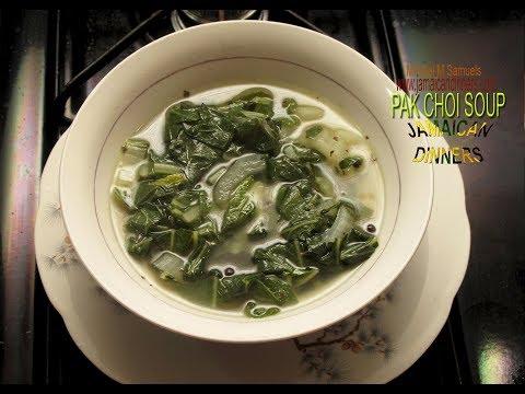 BOK CHOY SOUP or PAK CHOI SOUP: Vegan Cooking Recipe