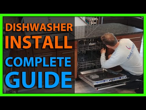 How To Install a Dishwasher - Full Installation - Plumbing & Electrical Connections