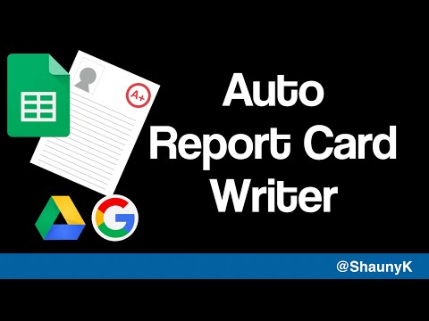 Auto Report Card Writing Spreadsheet for Teachers - Write your reports super fast!