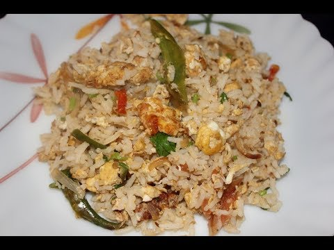 Egg Rice - Quick and easy recipe - Perfect for lunch box