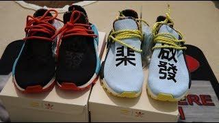 d05b4ef8949d3 Adidas NMD Hu Pharrell Williams Inspiration Pack Clear Sky + Black Sneaker  Unboxing
