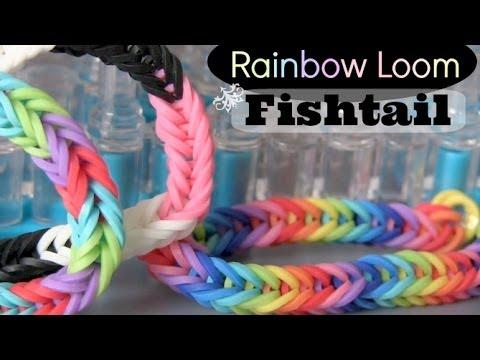 RAINBOW LOOM : Fishtail Bracelet - How To | SoCraftastic