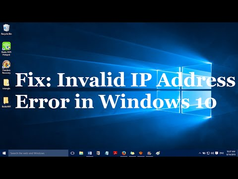 Fix: Invalid IP Address Internet Connection Error in Windows 10