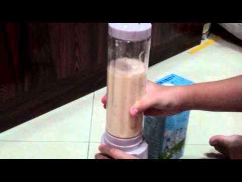 Make a apple juice with milk