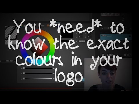 What Colours Are In My Logo? - How To Get HTML HEX Color Codes from your Logo using Pixlr (Tutorial)