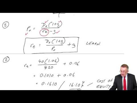 ACCA F9 The cost of capital -  The cost of equity