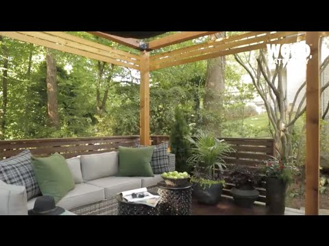 How to Build a Pergola With Shade