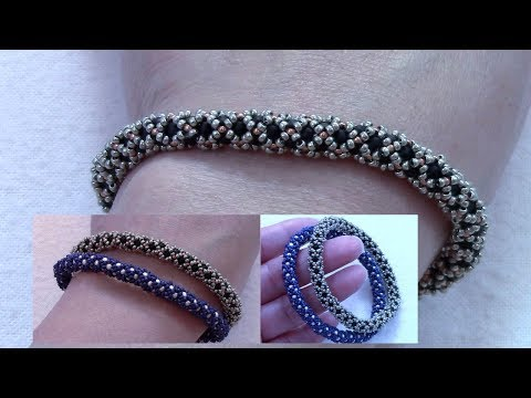 Filled Netted Bangle