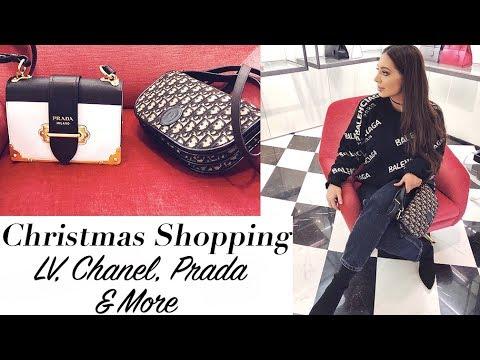 Luxury Christmas Shopping On Bond Street & Harrods- Chanel, LV, Prada & Burberry