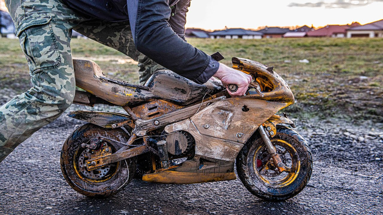 Kawasaki Ninja Minibike - Restoration Abandoned rusty Minibike