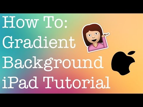 How To Add A Gradient Background To Your Videos! || iPad Tutorial