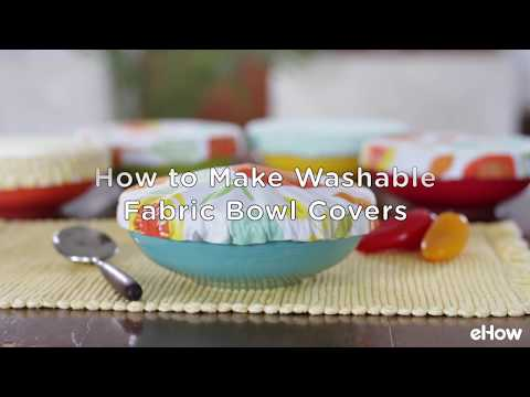 DIY Washable Fabric Bowl Covers