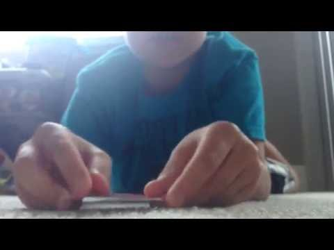 How to make a hopping frog out of a playing card