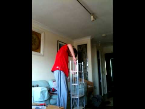 Building a DVD rack in 24 seconds