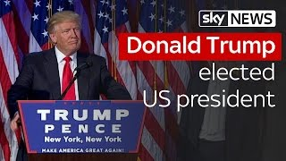 Trump elected US president