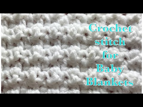 Extended double crochet stitch for baby blankets and more #102