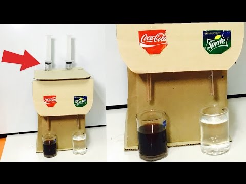 How to Make Soda Fountain Machine Using SYRINGE at Home. Most Easy way
