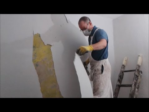 How to strip woodchip wallpaper off ceilings and walls