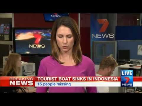 Tourist Boat Sink In Indonesia | Seven News Perth | 17/08/2014