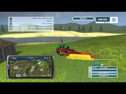 farming simulator 2013 xbox 360 lets play episode 2 mowing