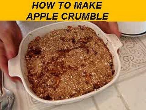 APPLE CRUMBLE recipe, dessert, vegan