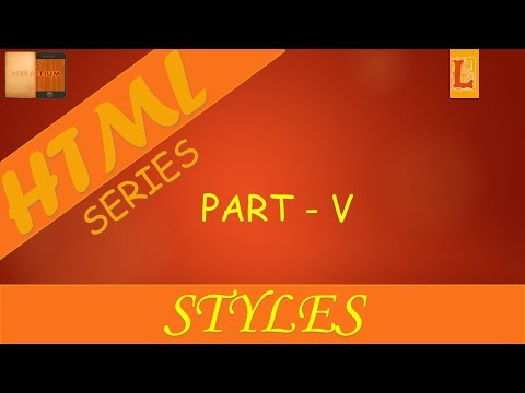 HTML Introduction: Part 5, Style Tag